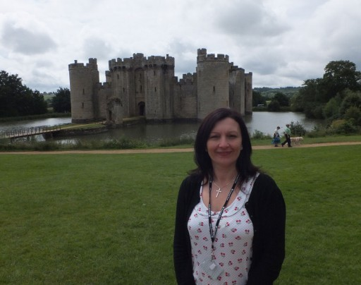 Karen at Bodiam Castle