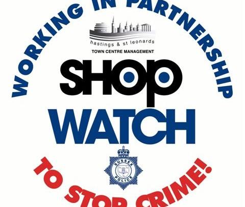 Hastings Town Centre Management Shopwatch Logo